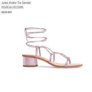 Pour La Victoire | Jules Ankle Tie Sandal